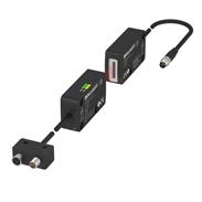 Kompaktes Laserlichtband mit IO-Link