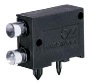 Lichtleiterelement mit Einpresszapfen für Frontplatteneinbau
