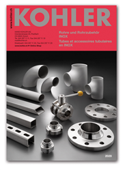 Neuer Katalog Rohre und Rohrzubehör INOX