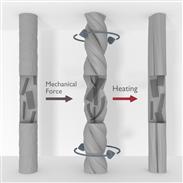 Kabelloser Mikromotor aus verdrillter Faser