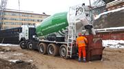 Erster vollelektrischer Betonfahrmischer von Avesco bei Holcim