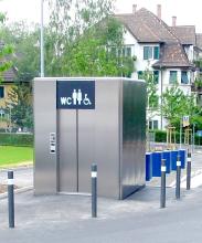 Neuer Ultraschallsensor in öffentlichen Toiletten