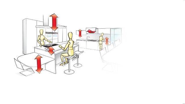 mehr komfort und ergonomie f r die k che fachberichte bei. Black Bedroom Furniture Sets. Home Design Ideas