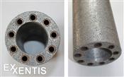 Wärmetauscher aus porösesm Aluminium. Energie sparen. Umwelt schützen.