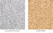 Poröses Aluminium. Eine Option zur Sintermetall.