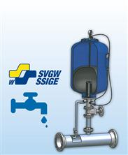 Trinkwasser-Druckschlagdämpfer mit SVGW-Zulassung