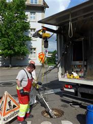 Elektrokettenzug GPM250 für den Transport von Arbeitsrobotern
