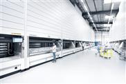 Montage-Versorgung mit Lagerlift LOGIMAT